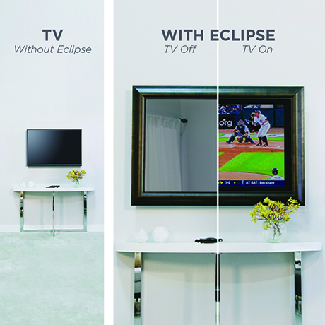 Eclipse TV Cover Electric Mirror televisions healthcare lobbies waiting areas
